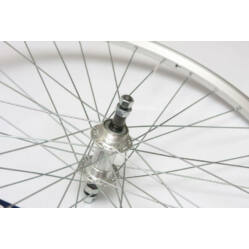 Remerx - Assess 26-os (559mm) MTB hátsó kerék, csavaros tengellyel, menetes racsnihoz, ezüst