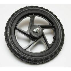 12 colos  komplett műanyag kerék, tömör külső gumival