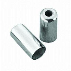 Spyral 5 mm-es fém bowdenház kupak hosszanti szálas és normál fékbowdenházhoz, ezüst színű