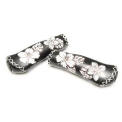 Velo ergonomikus bőr markolat, 135 mm, virágmintás, fekete