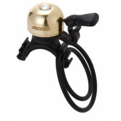 Acor ABE21304 gumipántos mini csengő, arany színű