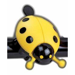 Acor ABE2201 gyerek acél-műanyag csengő, sárga, katicás
