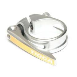 Tioga gyorszáras nyeregcső bilincs, 34,9 mm, ezüst színű