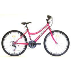 Hauser Wolf 24-es lány kerékpár, 18s, acél, sötét rózsaszín