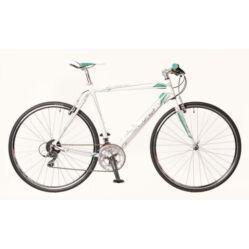 Neuzer Courier DT férfi 28-as cross kerékpár, alumínium, 16s, 48 cm, fehér-türkiz