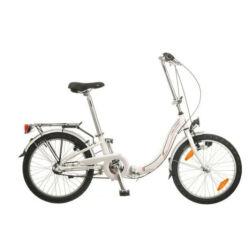 Neuzer Folding összehajtható 20-as városi agyváltós kerékpár acél, 3s, fehér