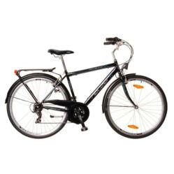 Neuzer Ravenna 30 férfi 28-as trekking kerékpár, 21s, acél, 19-es, fekete-cián-fehér Belépő kategóriás, jó ár-érték arányú trekking kerékpár