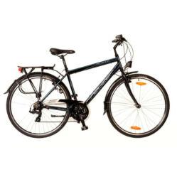 Neuzer Ravenna 50 férfi 28-as trekking kerékpár, 21s, alumínium, 19-es, fekete-cián-piros