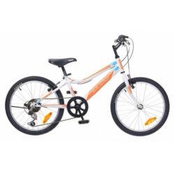 Neuzer Bobby 20-as, 6 sebességes fiú kerékpár, fehér-narancs