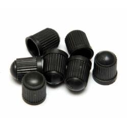 Műanyag szelepsapka, autó szelepes, fekete