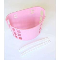 Trinity műanyag első kosár 12-20-as gyerek kerékpárra, rózsaszín