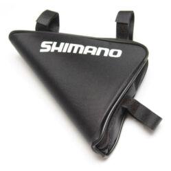 Shimano merevített háromszög váztáska, 22x18x5 cm, 2L, fekete