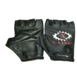 Velotech X-Line ujjatlan kerékpáros kesztyű, fekete, M