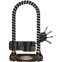 Master Lock U-lakat 280 x 110 x 13 mm, fekete, reflexcsíkos