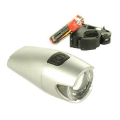 Jing Yi POWER LED 0,5W első lámpa, elemekkel, ezüst színű
