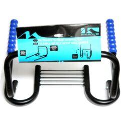 M-Wave felhajtható fali kerékpártartó konzol 2-3 kerékpár számára, fekete-kék