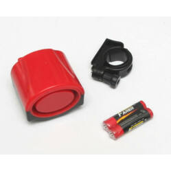 Jing Yi elektromos kerékpár duda, egy szólamú, elemekkel, piros