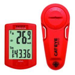 Cateye Strada Slim CC-RD310 vezeték  nélküli kerékpár computer, 8 funkció, piros