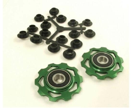 Altrix ipari csapágyas váltógörgő szett (alsó és felső), alumínium, zöld