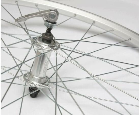 Remerx - Trinity 26-os (559mm) MTB első kerék, gyorszáras tengellyel, ezüst