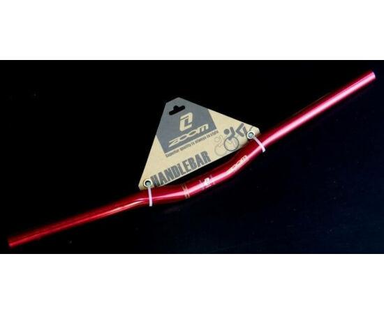 Zoom alu kormány 25,4 x 600 x 20 mm, 10 fok hátra, piros