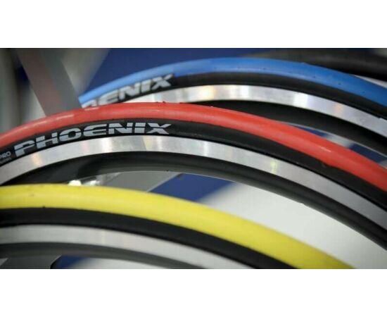 Rubena Phoenix R01 622-23 (700x23C) külső gumi, piros-fekete, kevlárperemes, Racing Pro, 127TPI, 185g