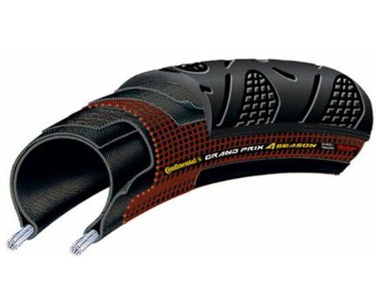 Continental Grand Prix 4-Season 622-23 (700x23C) külső gumi (köpeny), defektvédett (Double Vectran Breaker), kevlárperemes, 240g