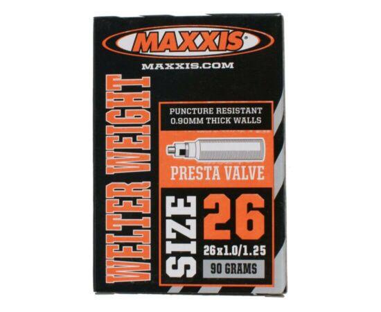 Maxxis Welter Weight (0,9 mm) 26 x 1,0/1,25 (25/32-559) MTB belső gumi 48 mm hosszú szeleppel, presta