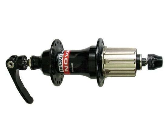 Novatec FO62SB-SA MTB hátsó kerékagy, 36H, gyorszáras, ipari csapágyas, fekete