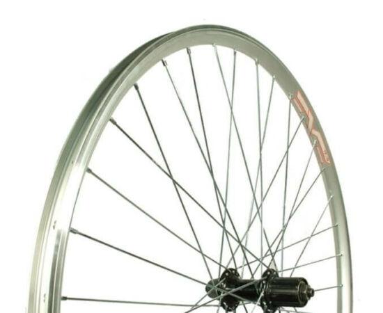 Remerx 28/29 colos (622 mm - 700c) trekking hátsó kerék, gyorszáras tengellyel, kazettás lánckeréksorhoz, ezüst-fekete