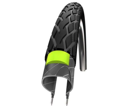 Schwalbe Marathon HS420 622-40 (700x40c) külső gumi, defektvédett (GreenGuard), reflexcsíkos 810g