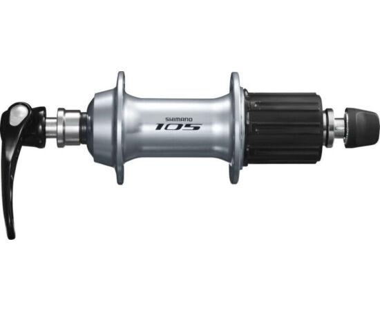 Shimano 105 FH-5800 országúti hátsó kerékagy, 36H, gyorszáras, 11-es kazettás lánckeréksorhoz, ezüst színű