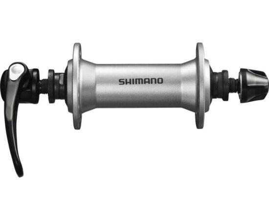 Shimano Alivio HB-T4000 MTB első kerékagy, 32H, gyorszáras, ezüst színű