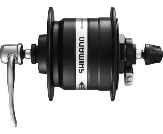 Shimano Nexus DH-3N31 agydinamó, 36H, gyorszáras, 6V, 3W, fekete, SM-DH10 túlfeszültség védelemmel