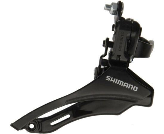 Shimano Tourney TZ-30 felül húzós első váltó 42T, 31,8mm bilinccsel, fekete
