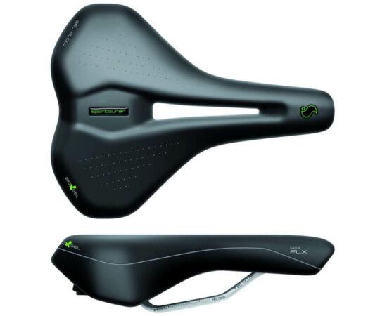 Sportourer Max Gel Flow unisex komfort nyereg, 269 x 205 mm, 485g, fekete
