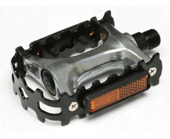 Spyral Start acél keretes alumínium pedál, fekete-ezüst
