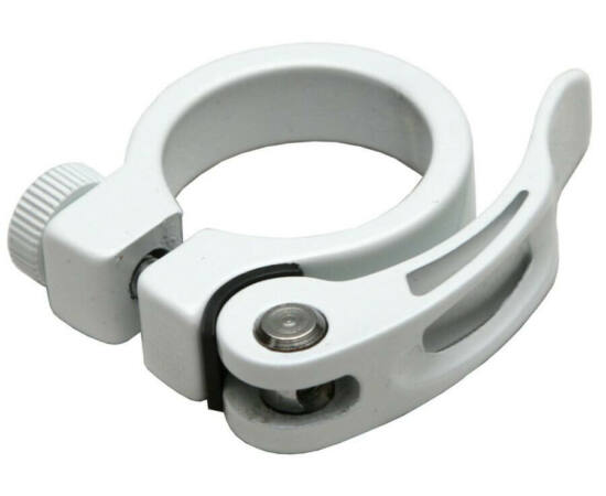 Spyral Analogue gyorszáras  nyeregcső bilincs, 31,8 mm, fehér