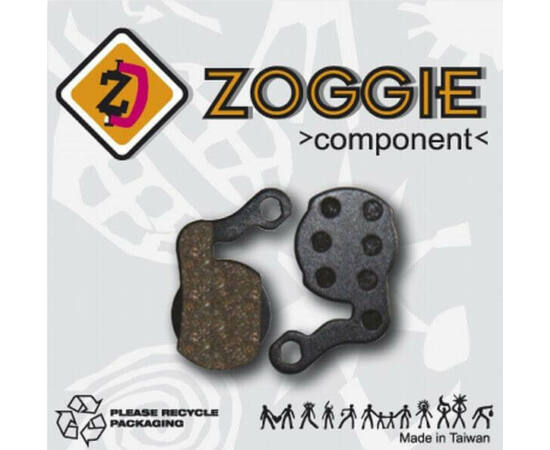 Zoggie fékbetét Magura 2011-es tárcsafékekhez, acél alap - szintetikus pofa