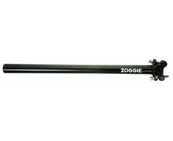 Zoggie nyeregcső 25,2x400 mm fekete