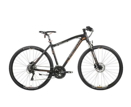 Gepida Alboin 700 CRS alu 28-as férfi cross kerékpár, 27s, 48 cm, fekete-szürke-narancs