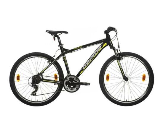 Gepida Mundo alu 26-es MTB kerékpár, 21s, 17 col, fekete-sárga