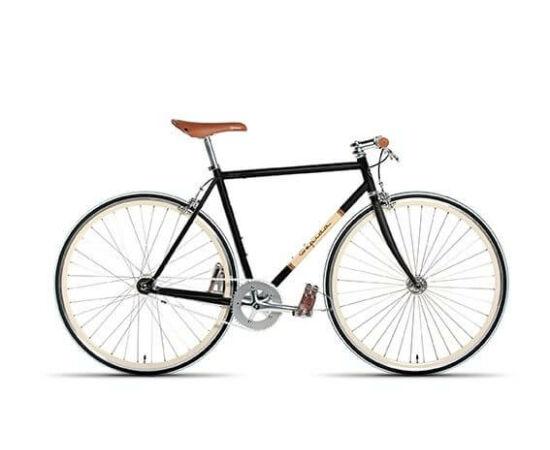 Gepida S3 acél single speed kerékpár, 54 cm, 1s, fekete