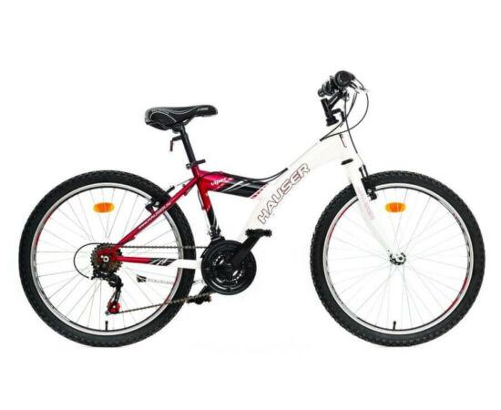 Hauser Viper 24-es junior kerékpár, 18s, acél, fehér - piros
