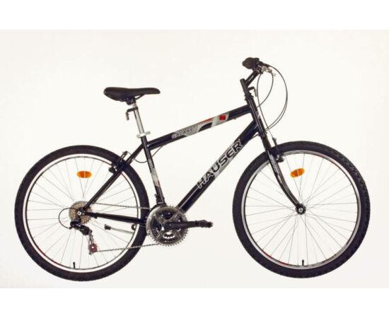 Hauser Galaxy férfi 26-os MTB kerékpár, acél, 18s, 16-os, fekete