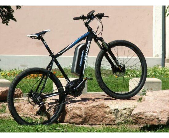 Neuzer E-650B férfi 27,5-es pedelec MTB kerékpár, 250W, 17-es, 9s, fekete-kék-fehér