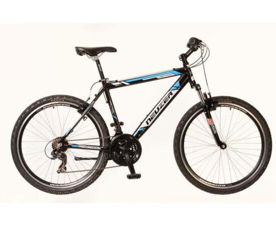 Neuzer Mistral férfi hobbi 26-os MTB kerékpár, alumínium, 21s, 21-es, fekete-fehér-cián