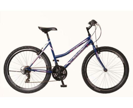Neuzer Nelson 30 női hobbi MTB kerékpár, acél, 21s, 17-es, sötétkék-fehér-mályva