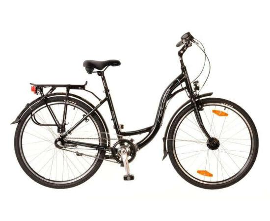 Neuzer Padova 26-os női városi kerékpár, alumínium, agyváltós (3s), agydinamós, 19-es, fekete-türkiz