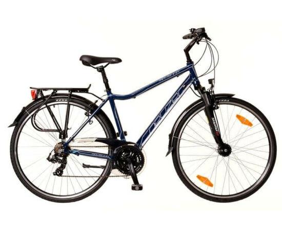 Neuzer Ravenna 100 férfi 28-as  trekking kerékpár, 21s, alumínium, agydinamós, 21-es, sötétkék-fehér-türkiz